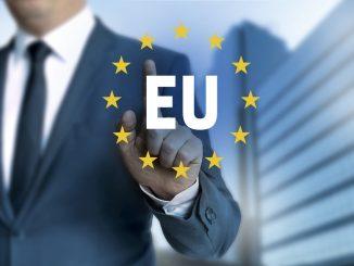 EU europäische union touchscreen konzept.