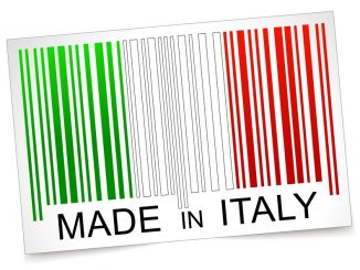 Vector illustration of made in italy barcode concept
